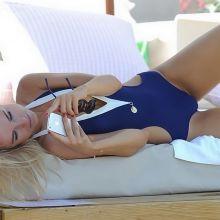 Kimberley Garner wearing sexy swimsuit in Greece 8x MQ