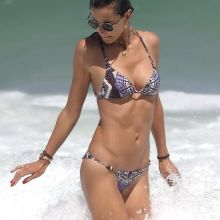 Alessandra Ambrosio sexy bikini bend over candids on the beach in Brazil 42x HQ photos