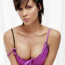 Alyssa Milano sexy cleavage in James White photo shoot 8x UHQ