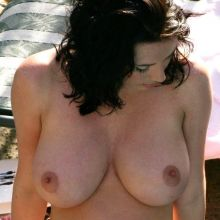 Sophie Howard Topless Holiday Swimming Pool 18x UHQ