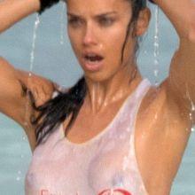 Adriana Lima braless wet see through photo shoot 17x UHQ