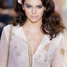 Kendall Jenner see through top on Diane Von Furstenberg show at Spring 2016 NY Fashion Week 22x UHQ