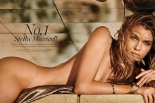 Stella Maxwell nude topless see through lingerie for Maxim 2016 June-July 12x HQ photos