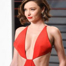 Miranda Kerr sexy cleavage on 2016 Vanity Fair Oscar Party 56x UHQ photos