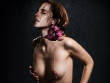 Emma Watson nude Elle magazine cover naked spread legs photo shoot UHQ