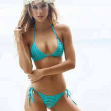 Alexis Ren holey Beach Bunny bikini photo shoot 4x HQ photos
