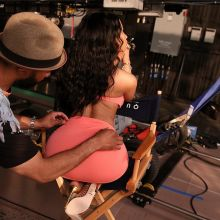 Nicki Minaj big boobs and ass in lingerie for Myx Fusions Moscato commercial shoot 2014 May 16x MQ