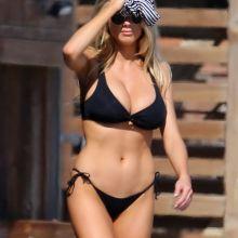Charlotte Mckinney big boobs in sexy bikini on the beach in Malibu 75x HQ photos