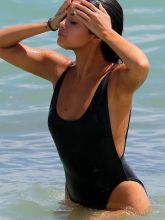 Selena Gomez wearing sexy swimsuit at a beach in Miami 10x UHQ Adds