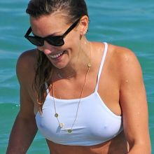 Emily Bett Rickards and Katie Cassidy wearing sexy bikini on the Miami beach 122x UHQ photos