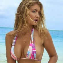 Gigi Hadid nude naked topless bodypaint see through Sports Illustrated sexy Swimsuit 2016 photo shoot 29x HQ