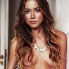Chloe Bennet nude Agents of S.H.I.E.L.D. topless poster UHQ