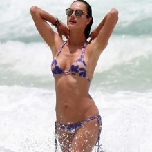 Alessandra Ambrosio boobs trying to pop out from tiny bikini on the beach in Brazil 130x HQ photos