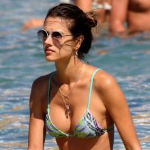 Alessandra Ambrosio sexy bikini candids on the beach in Mykonos 29x HQ photos