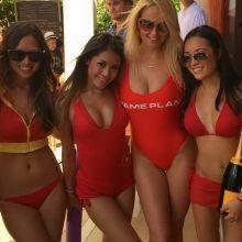 Genevieve Morton sexy swimsuit at Tao Beach Venetian Hotel in Las Vegas Instagram photo 6x MixQ