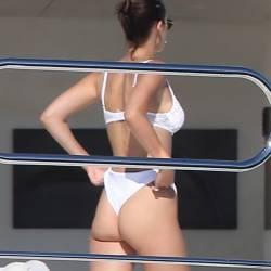 Bella Hadid sexy bikini cameltoe candids on the yacht in Cannes 27x HQ photos