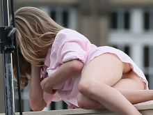Amanda Seyfried upskirt pantyless on the set of a photo shoot in Paris show hairy pussy 103x UHQ photos