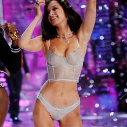 Bella Hadid sexy see through lingerie cameltoe 2017 Victoria's Secret Fashion Show 19x MixQ photos