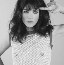 Selma Blair nude braless pokies in see through top for NO TOFU magazine 3x HQ photos