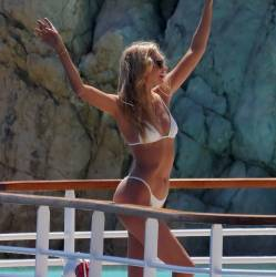 Elsa Hosk sexy bikini cameltoe candids at the pool the Hotel du Cap-Eden-Roc in Antibes 50x HQ photos