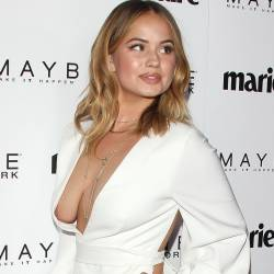 Debby Ryan braless boobs pop out nip slip at Marie Claire's 'Fresh Faces' event in Los Angeles 6x UHQ photos