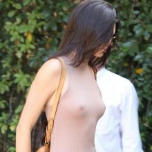 Kendall Jenner braless pokies in see through dress at The Villa restaurant in Woodland Hills 45x UHQ photos