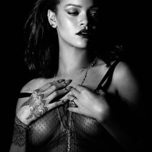 Rihanna nude topless see through for Kiss It Better Music video promos 13x UHQ