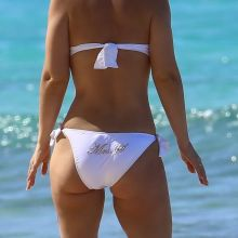 Kimberley Walsh in sexy white bikini on the beach in Barbados 57x HQ photos