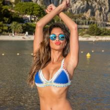 Nicole Scherzinger sexy bikini on the beach in Nice, France HQ photos