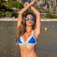Nicole Scherzinger sexy bikini on the beach in Nice, France HQ photos