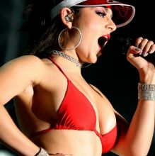 Charli XCX cameltoe boobs trying to pop out from bikini performs at The Downtown Las Vegas Events Center 127x UHQ photos
