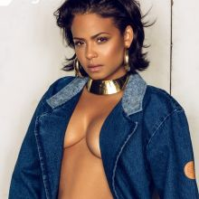 Christina Milian braless cleavage for Rolling Out magazine 2016 January 11x HQ photos