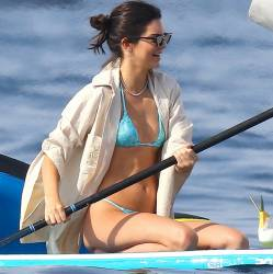 Kendall Jenner, Kourtney Kardashian in thong bikinis on a yacht in Antibes 94x HQ photos