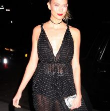 Karlie Kloss braless in see through dress Guggenheim International Gala Dinner 38x UHQ photos