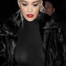 Rita Ora show big boobs in see through top leaving the Shepherds Bush Empire in London 22x UHQ