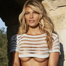 Samantha Hoopes nude topless bodypaint see through Sports Illustrated sexy Swimsuit 2015 photo shoot 25x HQ