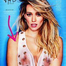 Hilary Duff without bra in see through blouse Cosmopolitan magazine HQ scan