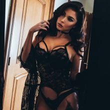 Arianny Celeste see through lingerie for Martin Murillo photo shoot