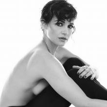 Carla Gugino topless, sexy bra for Sharp magazine 2016 June 6x HQ photos