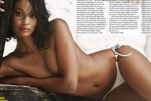Chanel Iman topless for GQ Magazine South Africa 2015 February 7x HQ