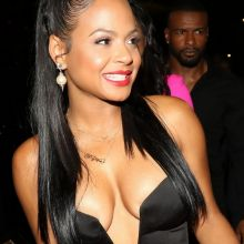 Christina Milian upskirt cleavage at Club PlayHouse in Hollywood 47x UHQ