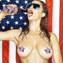 Alyssa Arce displaying her patriotic spirit and big boobs on the 4th of July HQ photo