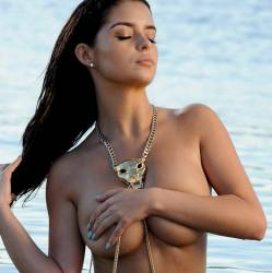 Demi Rose topless photoshoot in Ibiza 9x UHQ photos