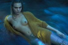 Cara Delevingne topless for W Magazine photo shoot UHQ