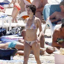 Lena Headey wearing sexy bikini at a beach in Ibiza 15x HQ