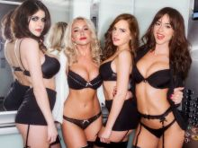 Alexandra Daddario, Hayden Panettiere, Emma Watson and Chloe Bennet in hot black lingerie HQ photo