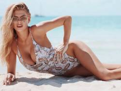 Charlotte McKinney big boobs and ass in sexy swimsuit for Revolve 11x MixQ