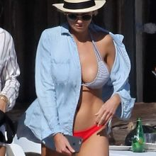 Charlotte Mckinney big boobs in tiny bikini candids on the beach in Malibu 30x HQ photos