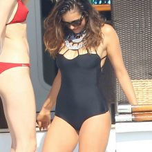 Nina Dobrev wearing sexy swimsuit in St Tropez 21x UHQ