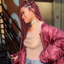 Keke Palmer braless in see through top candids in New York 29x HQ photos